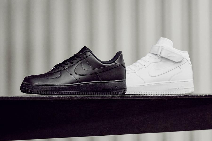 Nike Air Force 1 in schwarz und weiß