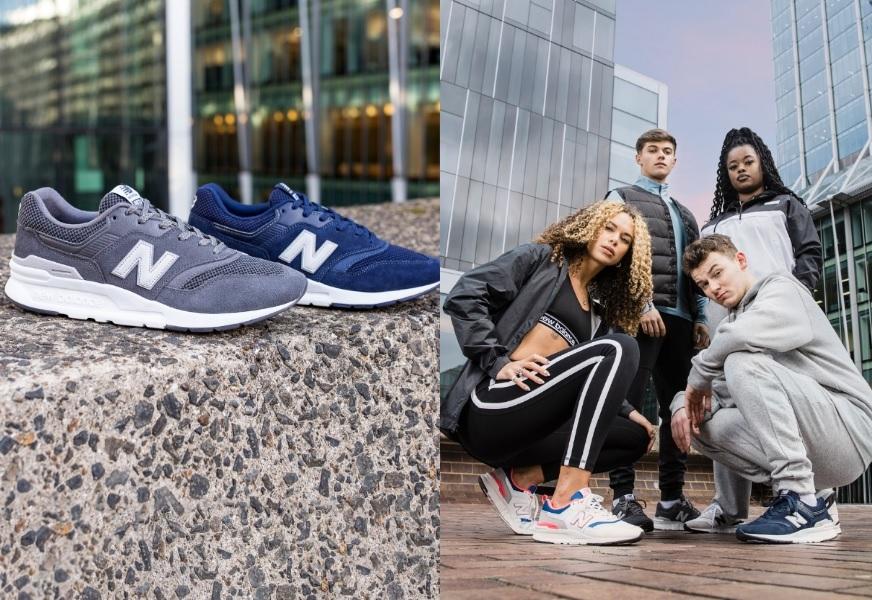 Rechts der neue New Balance 997H in Grau und Blau, links die New Balance Ambassadors mit der neuen New Balance Kollektion