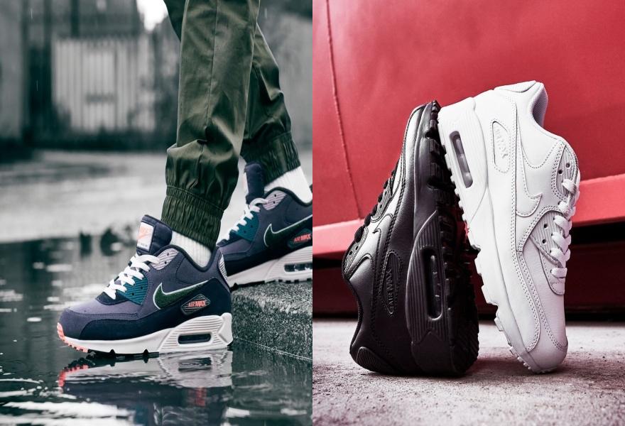 Der Nike Air Max 90 in Blau / Schwarz und Weiß