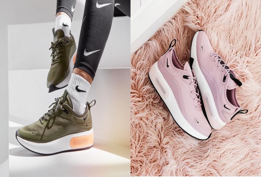 Der Nike Air Max Dia in Khaki und Rosa