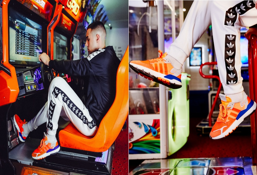 Der adidas Nite Jogger in Orange