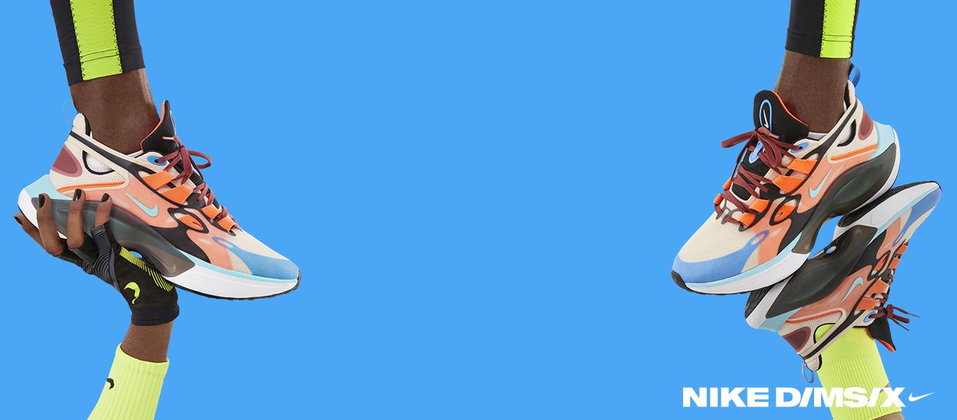 Der Nike D/MS/X in Pink und Blau für Herren
