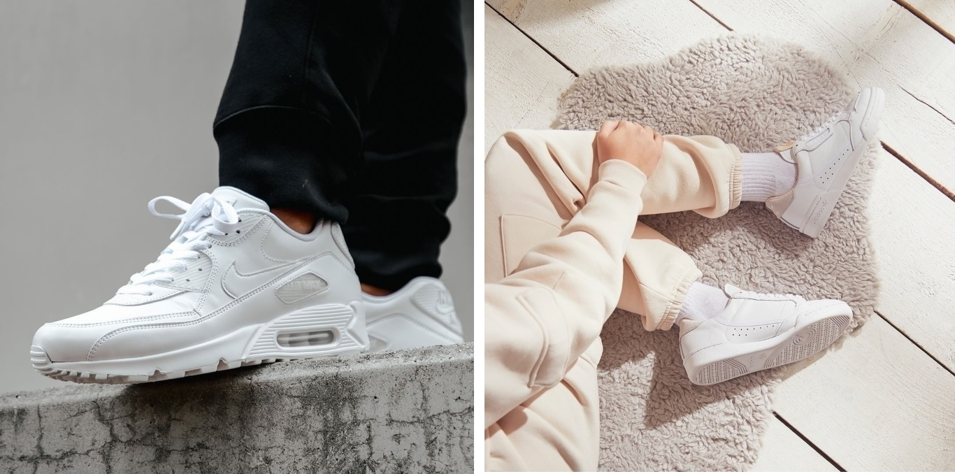 behalte saubere Sneaker