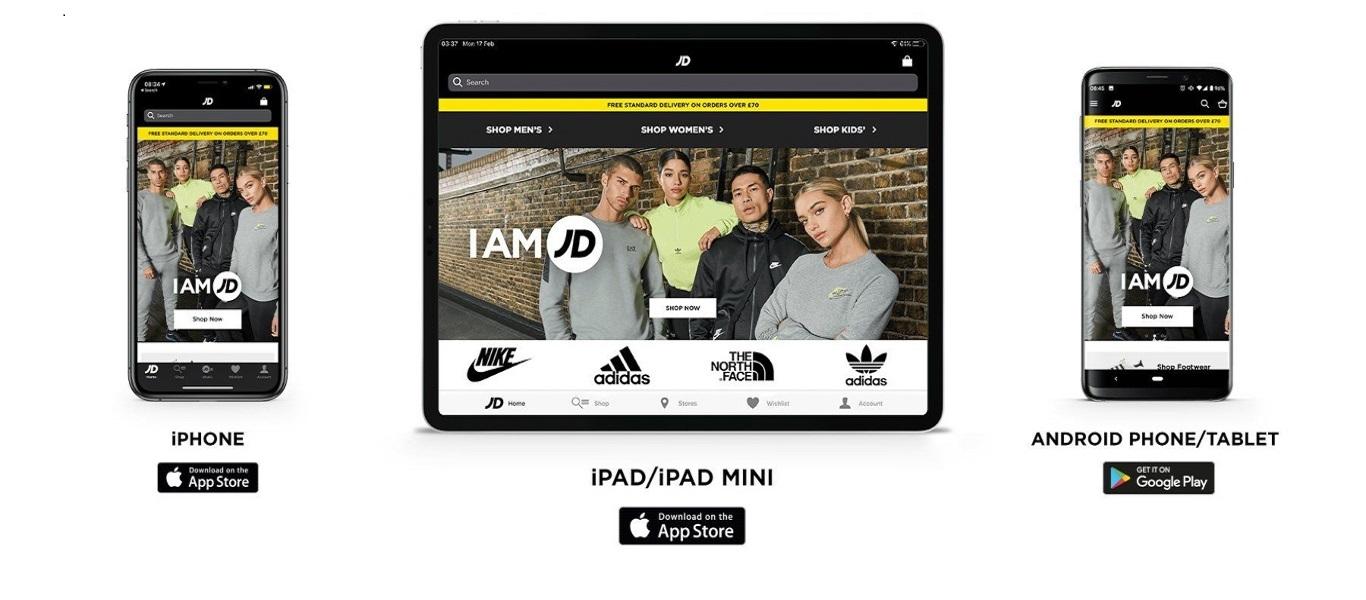 Die JD Sports App zum Shoppen