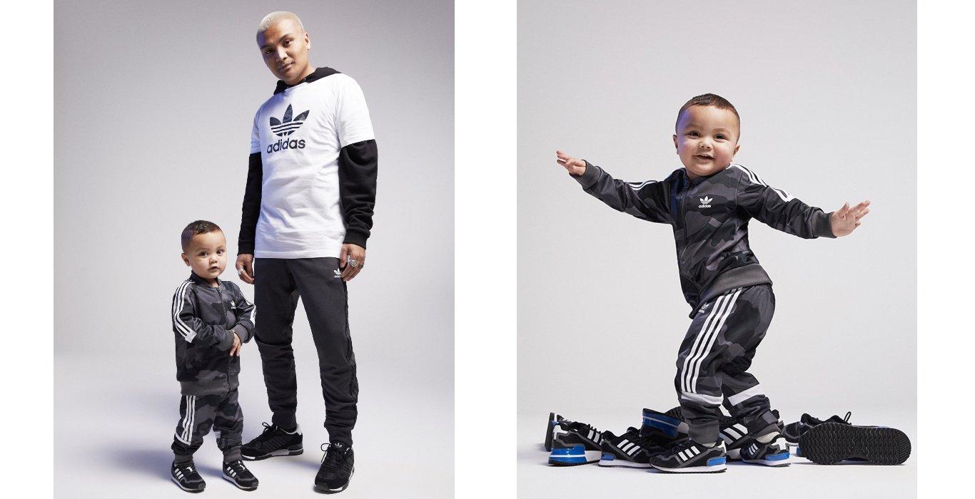 Vater und Sohn im adidas Look mit adidas ZX 750