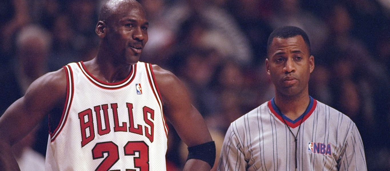 Jordan mit der Nummer 23 bei den Chicago Bulls